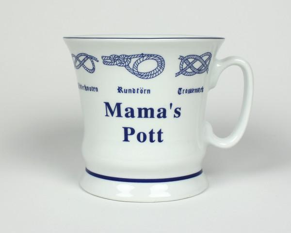 Mama´s Pott mit Seemannsknoten hoch Kaffeebecher Kaffeetasse Kaffee Pott