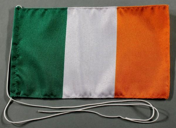 Tischflagge Irland 25x15 cm optional mit Holz- oder Chromständer Tischfahne Tischfähnchen