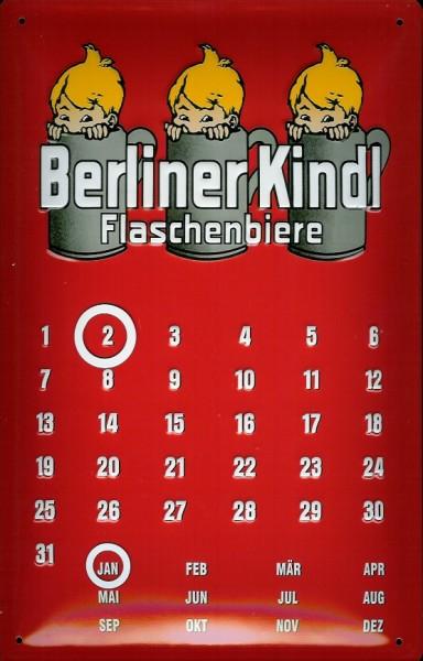 Blechschild Berliner Kindl Magnet Kalender Biere Schild Dauerkalender
