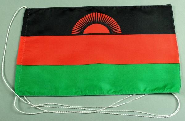 Tischflagge Malawi 25x15 cm optional mit Holz- oder Chromständer Tischfahne Tischfähnchen