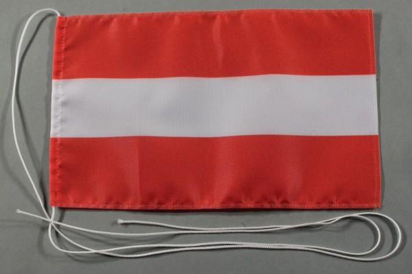 Tischflagge Oesterreich Austria Österreich 25x15 cm optional mit Holz- oder Chromständer Tischfahne