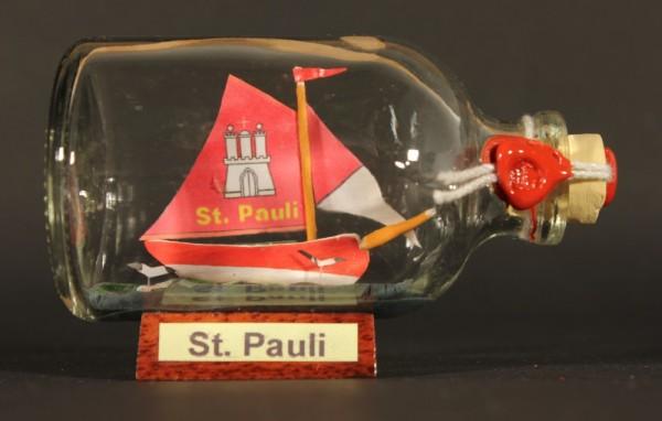 St. Pauli Hamburg Mini Buddelschiff 50 ml ca. 7,2 x 4,5 cm Flaschenschiff