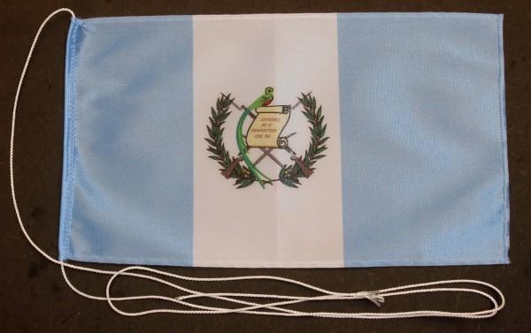Tischflagge Guatemala 25x15 cm optional mit Holz- oder Chromständer Tischfahne Tischfähnchen