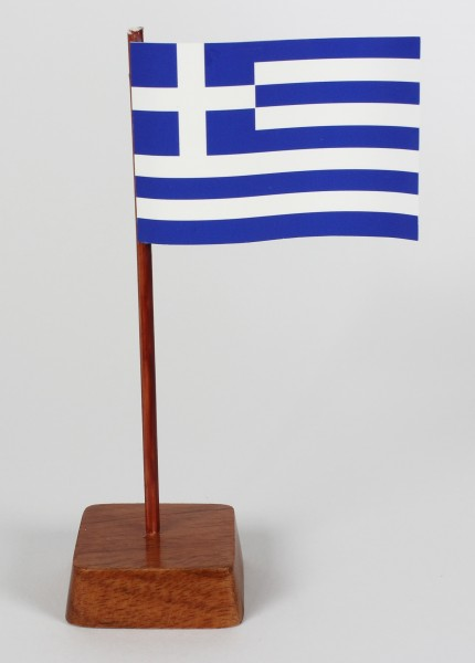 Mini Tischflagge Griechenland Höhe 13 cm Tischfähnchen
