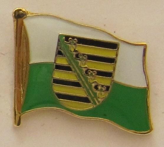 Pin Anstecker Flagge Fahne Sachsen