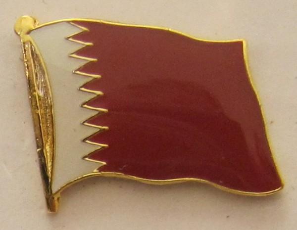 Katar Qatar Pin Anstecker Flagge Fahne Nationalflagge