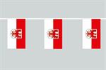 Brandenburg Flaggenkette 6 Meter / 8 Flagge Fahne