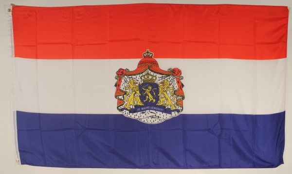 Flagge Fahne : Niederlande Holland mit Wappen Hollandflagge