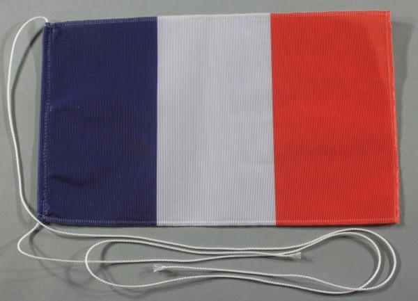 Tischflagge Frankreich 25x15 cm optional mit Holz- oder Chromständer Tischfahne Tischfähnchen