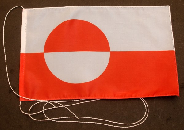 Tischflagge Grönland 25x15 cm optional mit Holz- oder Chromständer Tischfahne Tischfähnchen