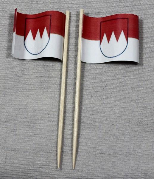 Party-Picker Flagge Franken Papierfähnchen in Spitzenqualität 50 Stück Beutel