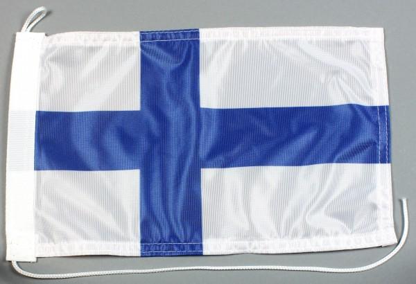 Bootsflagge : Finnland 30x20 cm Motorradflagge