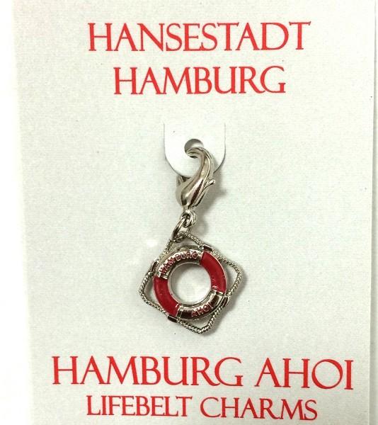 Anhänger Rettungsring rot Hamburg Ahoi Souvenir Accessoire Charms