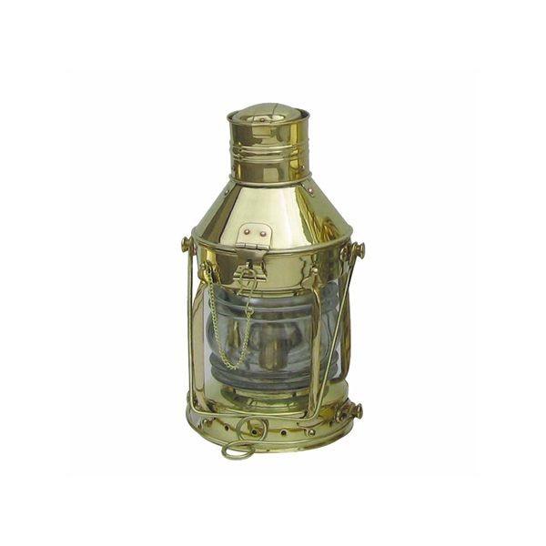 Ankerlampe Schiffslampe 32cm Messing Petroleumbrenner