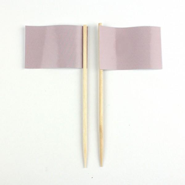 Party-Picker Flagge Uni Altrosa Papierfähnchen in Spitzenqualität 50 Stück Beutel