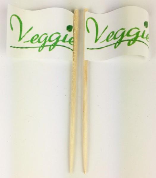 Party-Picker Flagge Veggie Blatt grün Papierfähnchen in Spitzenqualität 50 Stück Beutel
