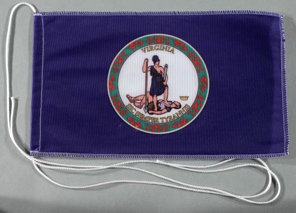 Tischflagge Virginia USA Bundesstaat US State 25x15 cm optional mit Holz- oder Chromständer Tischfah