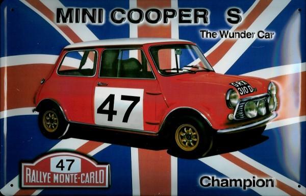 Blechschild Mini Cooper Wunder Car Nostalgieschild Schild