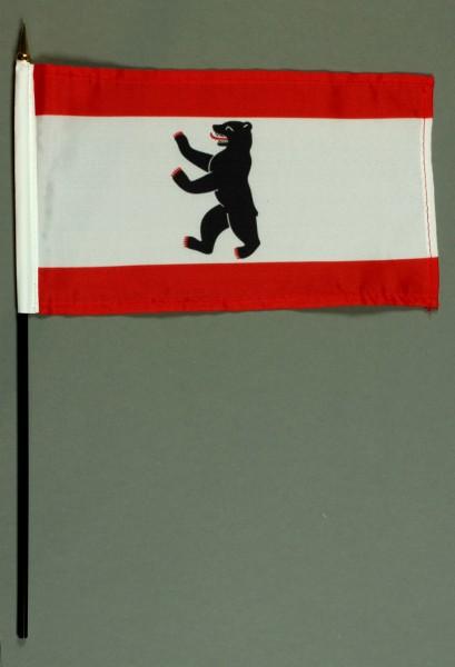 Tischflagge Berlin 15x25 cm BASIC optional mit Tischflaggenständer