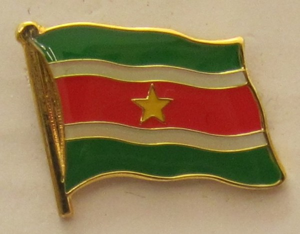 Surinam Pin Anstecker Flagge Fahne Nationalflagge