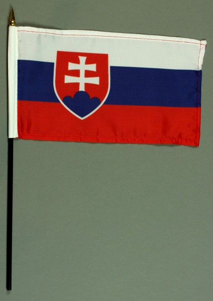 Tischflagge Slowakei 25x15 cm BASIC optional mit Tischflaggenständer