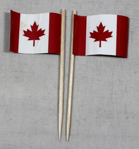 Party-Picker Flagge Kanada Papierfähnchen in Spitzenqualität 50 Stück Beutel