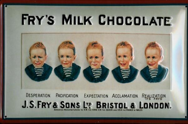 Blechschild Frys Milk Chocolate Milchschokolade Schild Schokolade