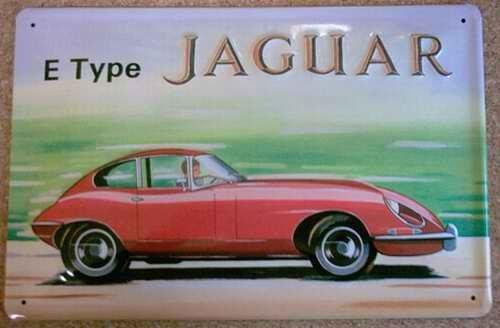 Blechschild Jaguar Type E Nostalgieschild Schild