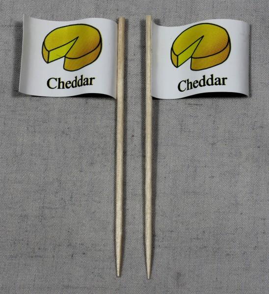 Party-Picker Flagge Cheddar Käse Papierfähnchen in Spitzenqualität 50 Stück Beutel