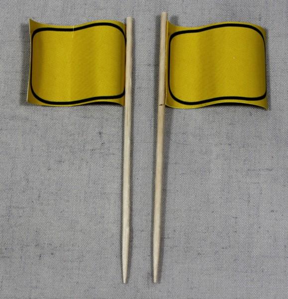 Party-Picker Flagge Ortsschild blanko Papierfähnchen in Spitzenqualität 50 Stück Beutel