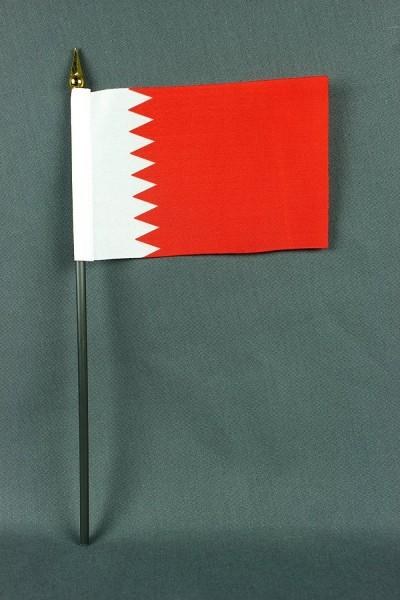 Kleine Tischflagge Bahrain 10x15 cm optional mit Tischfähnchenständer