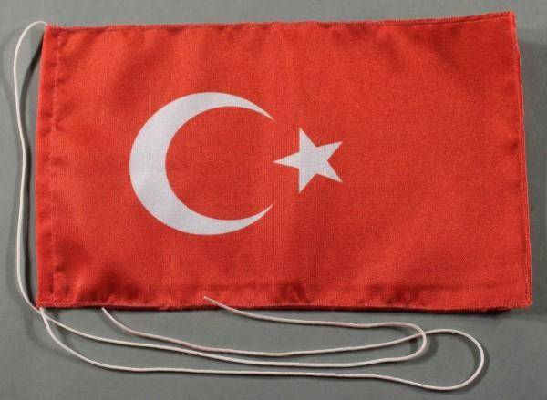Tischflagge Türkei 25x15 cm optional mit Holz- oder Chromständer Tischfahne Tischfähnchen