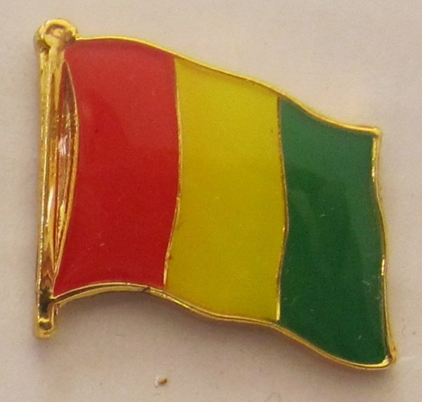 Guinea Pin Anstecker Flagge Fahne Nationalflagge