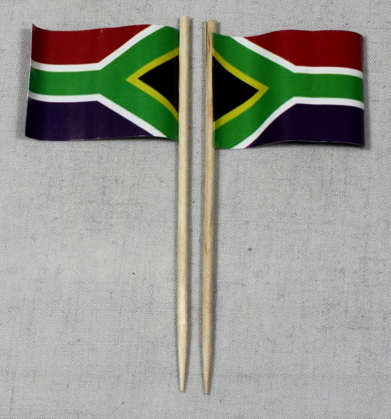 Party-Picker Flagge Südafrika Papierfähnchen in Spitzenqualität 50 Stück Beutel