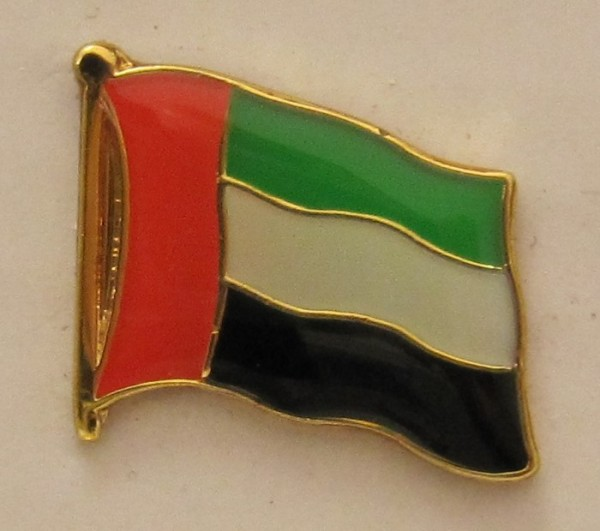 Vereinigte Arabische Emirate VAE Pin Anstecker Flagge Fahne Nationalflagge