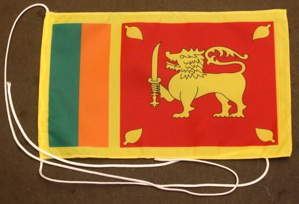 Tischflagge Sri Lanka 25x15 cm optional mit Holz- oder Chromständer Tischfahne Tischfähnchen