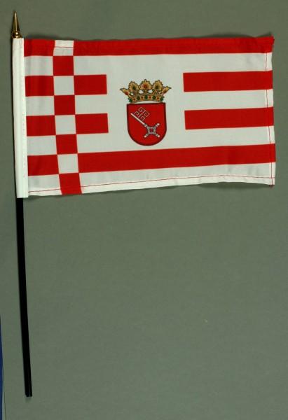 Tischflagge Bremen 15x25 cm BASIC optional mit Tischflaggenständer