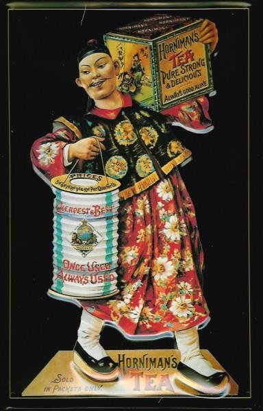 Blechschild Horniman Tea Tee Laterne Schild Reklameschild Nostalgieschild