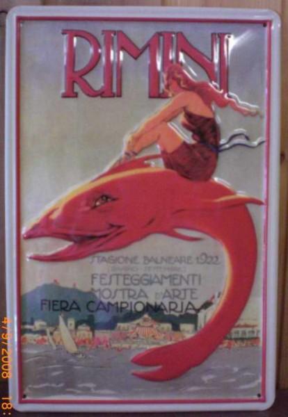Blechschild Nostalgieschild : Rimini