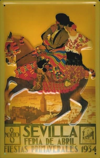 Blechschild Nostalgieschild Sevilla Pferd Spanien Show