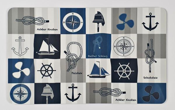 Frühstücksbrett Maritim Seemannsknoten Anker Steuerrad Schiff Glocke Windrose Kompass Frühstücksbret