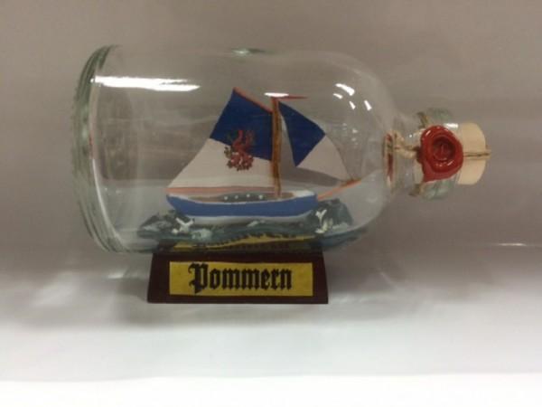Pommern Mini Buddelschiff 50 ml ca. 7,2 x 4,5 cm Flaschenschiff