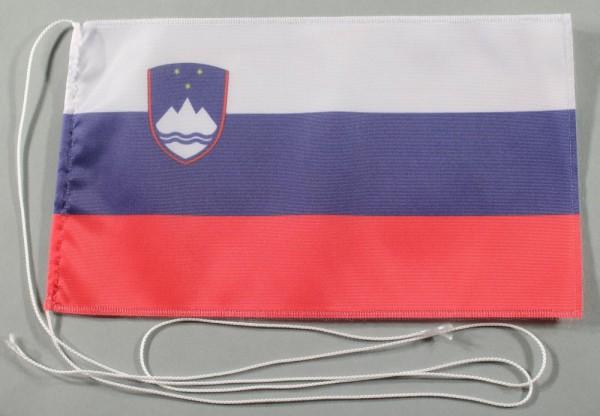Tischflagge Slowenien 25x15 cm optional mit Holz- oder Chromständer Tischfahne Tischfähnchen