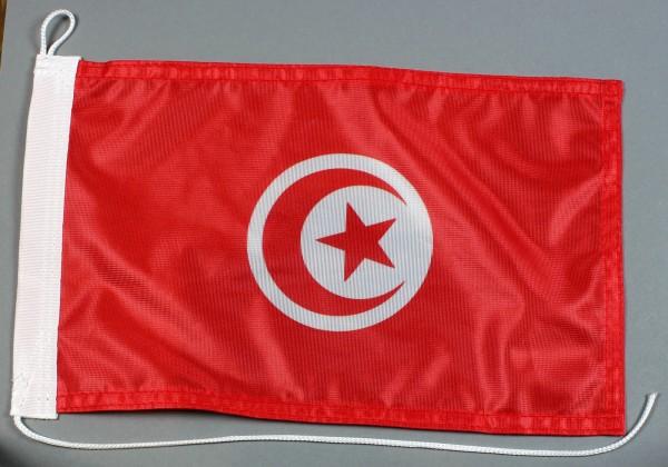 Bootsflagge : Tunesien 30x20 cm Motorradflagge