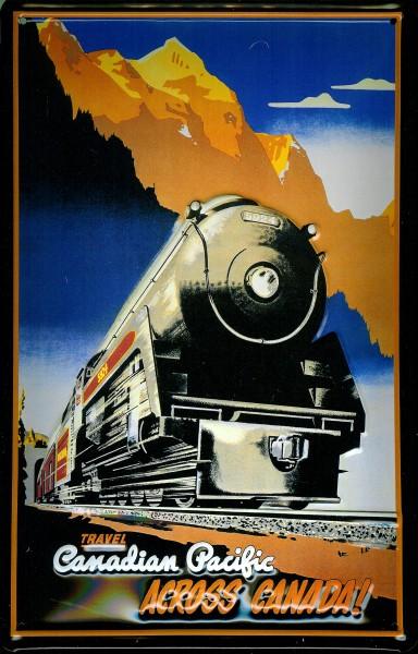 Blechschild Nostalgieschild Canadian Pacific Across Canada Eisenbahn