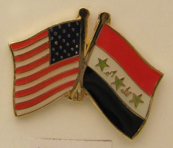 USA / Irak Freundschafts Pin Anstecker Flagge Fahne Nationalflagge