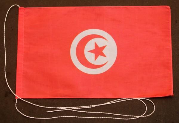 Tischflagge Tunesien 25x15 cm optional mit Holz- oder Chromständer Tischfahne Tischfähnchen