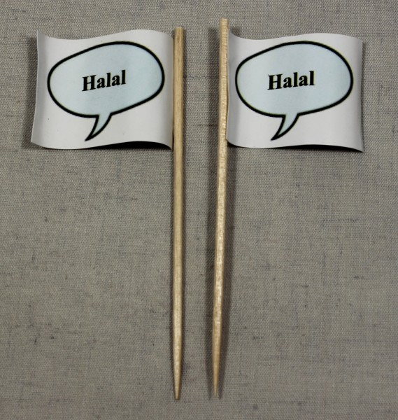 Party-Picker Flagge Halal Papierfähnchen in Spitzenqualität 50 Stück Beutel