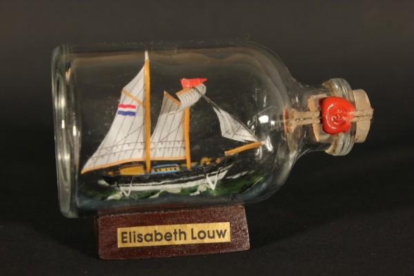 Elisabeth Louw Mini Buddelschiff 50 ml ca. 7,2 x 4,5 cm Flaschenschiff