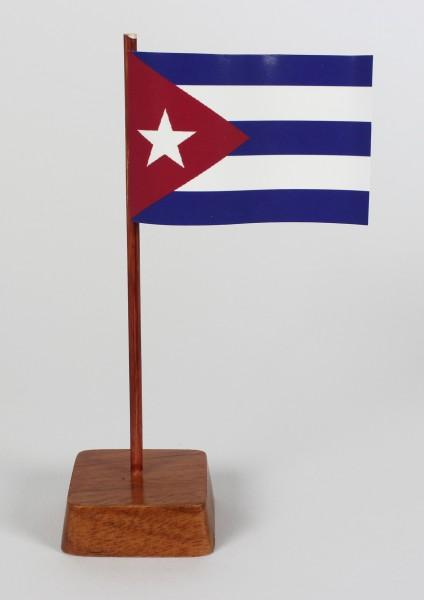 Mini Tischflagge Kuba Höhe 13 cm Tischfähnchen